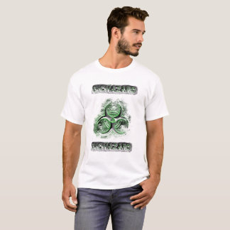 Biohazard warning green and silver toxic fallout T-Shirt