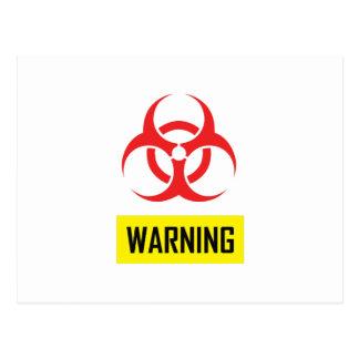 BIOHAZARD WARNING POST CARDS