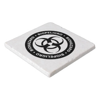 Biohazard Warning Sign Trivet