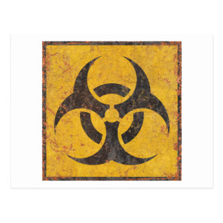 Biological Warning Sign Postcard