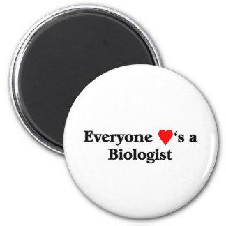 Biologist 2 Inch Round Magnet