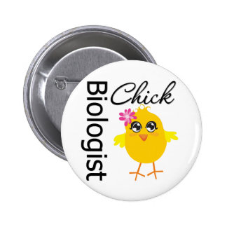 Biologist Chick Pinback Button