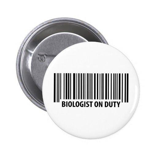 biologist on duty bar code icon pin