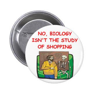 biology 2 inch round button