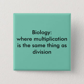 Biology 2 Inch Square Button