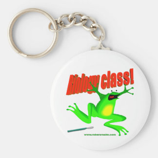 Biology class frog keychain