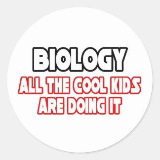 Biology...Cool Kids Classic Round Sticker