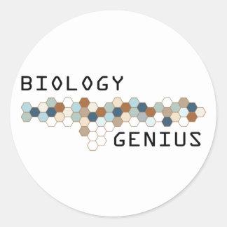 Biology Genius Round Sticker