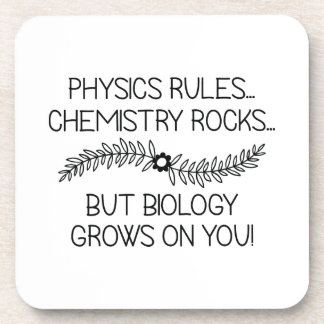 Biology Grows On You Coasters