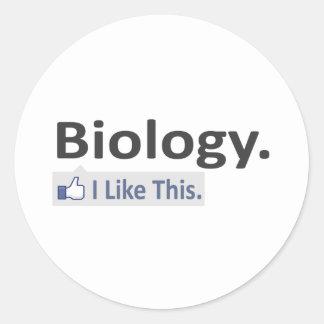 Biology...I Like This Classic Round Sticker