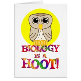 Biology is a Hoot Card