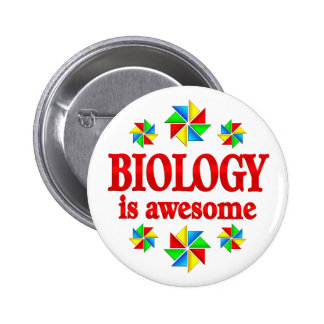 Biology is Awesome 2 Inch Round Button