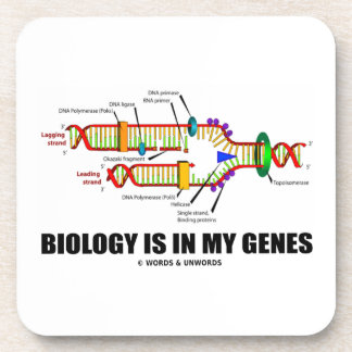 Biology Is In My Genes (DNA Replication) Drink Coaster