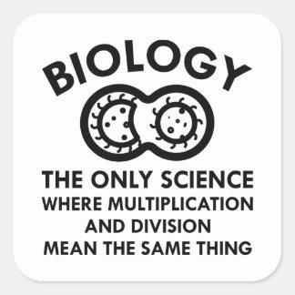 Biology Is In My Genes Square Sticker