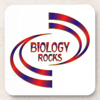 Biology Rocks Beverage Coasters
