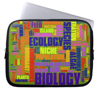 Biology Wordle Laptop Bag Laptop Sleeves