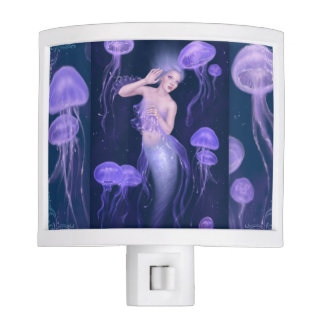 Bioluminescence Jellyfish Mermaid Night Light