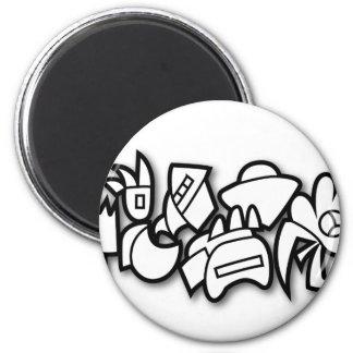 Biomorph 2 Inch Round Magnet
