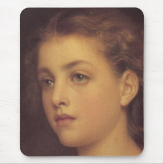 Biondina in detail by Lord Frederick Leighton Mouse Pad