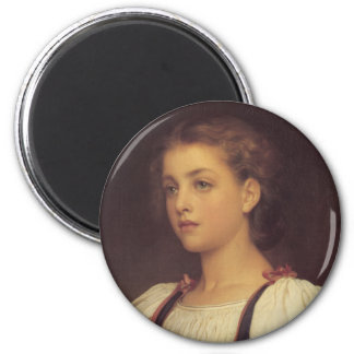 Biondina - Lord Frederick Leighton 2 Inch Round Magnet
