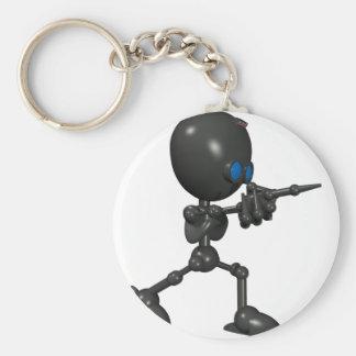 Bionic Boy 3D Robot - Finger Guns - Original Keychain