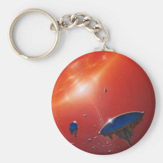 Biosphere Basic Round Button Keychain