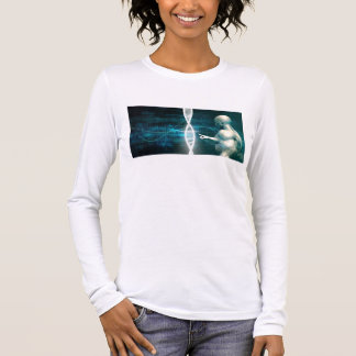Biotechnology as a Research Abstract Background Long Sleeve T-Shirt