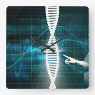 Biotechnology as a Research Abstract Background Square Wall Clock