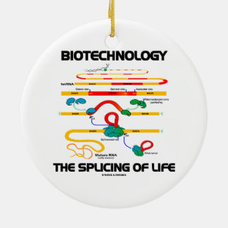 Biotechnology The Splicing Of Life (Mature RNA) Ceramic Ornament