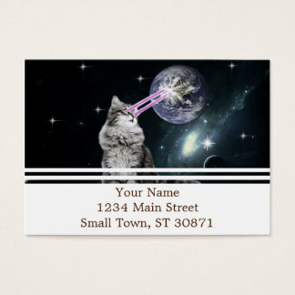 Bioworld Laser Eyes Space Cat Business Card