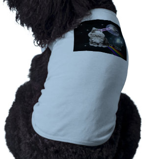 Bioworld Laser Eyes Space Cat Doggie Tee Shirt