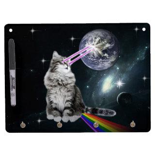 Bioworld Laser Eyes Space Cat Dry-Erase Board