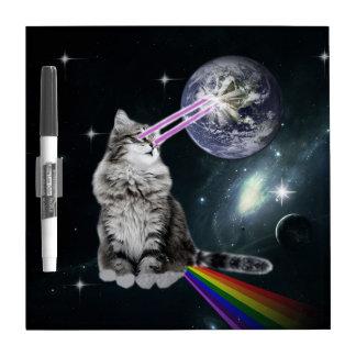 Bioworld Laser Eyes Space Cat Dry-Erase Whiteboards