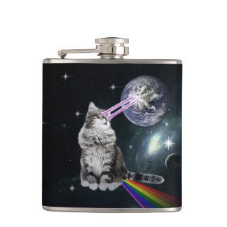 Bioworld Laser Eyes Space Cat Flasks