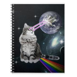Bioworld Laser Eyes Space Cat Notebooks