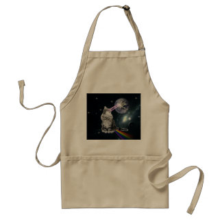 Bioworld Laser Eyes Space Cat Standard Apron