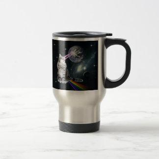Bioworld Laser Eyes Space Cat Travel Mug