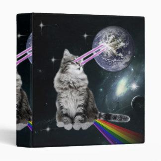 Bioworld Laser Eyes Space Cat Vinyl Binder