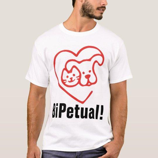 BiPetual (Dog & Cat Lover) T-shirts