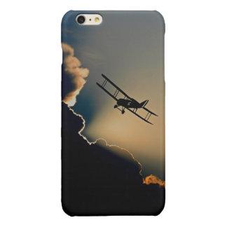 Biplane and sunset