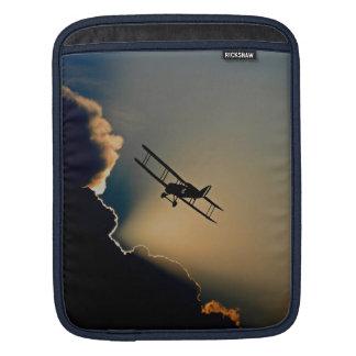 Biplane and sunset iPad sleeve