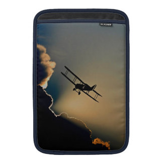 Biplane and sunset MacBook air sleeve