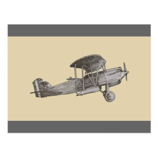 Biplane Postcard