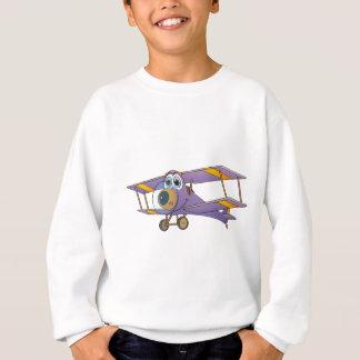 Biplane Purple Cartoon Sweatshirt