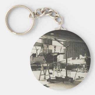 Biplane Trainers In 1941 Basic Round Button Keychain