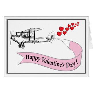 Biplane Valentine Card