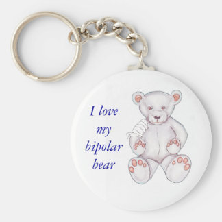 Bipolar Bear Keychain - Customized