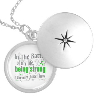 Bipolar Disease In The Battle Round Locket Necklace