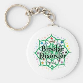 Bipolar Disorder Lotus Basic Round Button Keychain