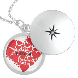 BIPOLAR DISORDER LOVE STERLING SILVER NECKLACE